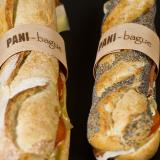 Baguette and seed sandwich with customized wooden ring