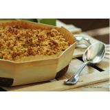 crumble, baked in a Octoron mold